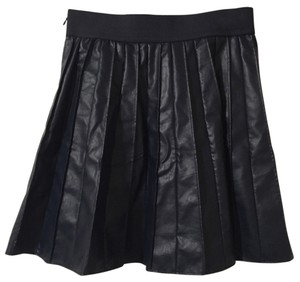 Ann Taylor Pleated Skirt Navy