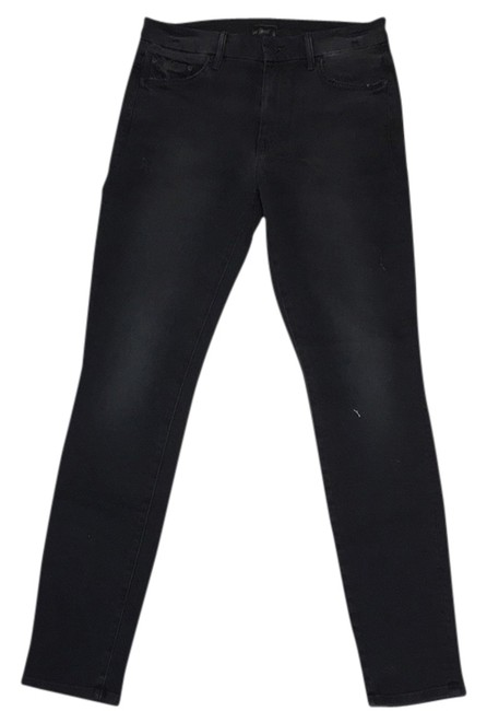 Item - Black Distressed High Waisted Looker Skinny Jeans Size 29 (6, M)