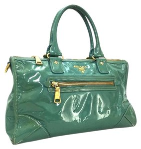 Prada Tote in Blue/Green