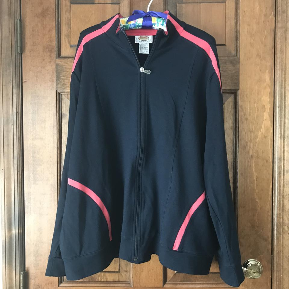 low priced fashionable style hot-selling newest Talbots Navy W/Pink Warm Up Suit Activewear Outerwear Size 22 (Plus 2x)