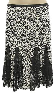 Diane von Furstenberg Lace Skirt Black and White