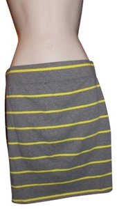 Route 66 Striped Skirt Grey and Yellow