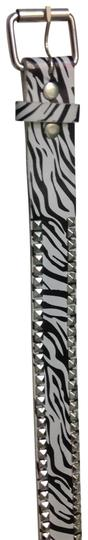 2Cute zebra studded belt