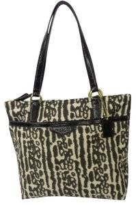 Coach F31901 Women's Leopard Tote in Brown/Black