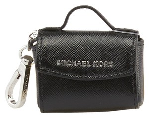 Michael Kors Michael Kors Ava Black Saffiano Leather Key Ring (80092)