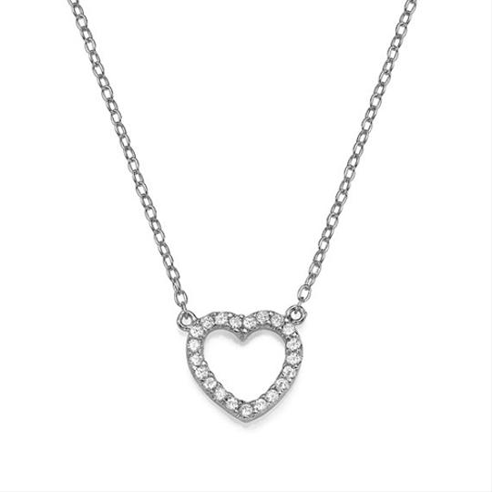 Preload https://item5.tradesy.com/images/white-gold-pave-open-heart-necklace-18k-plated-1444584-0-0.jpg?width=440&height=440