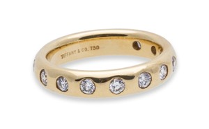 Tiffany & Co. Tiffany & Co. Diamond Wedding Band 18k Yellow Gold