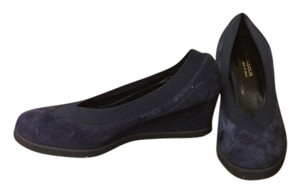 Andre Assous Wedge Navy Wedges
