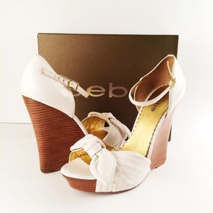 bebe White Wedges