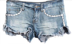7 For All Mankind Wash Mini/Short Shorts light denim