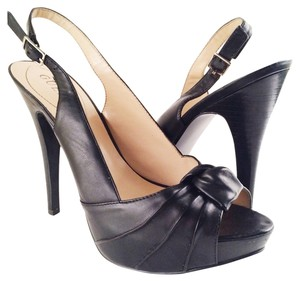 Guess Heels Peep Toe Black Pumps