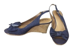 Clarks Wedge Heel Navy Sandals