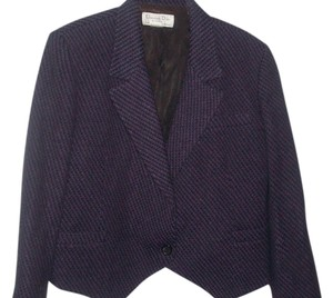 Dior Purple/Black Tweed Blazer