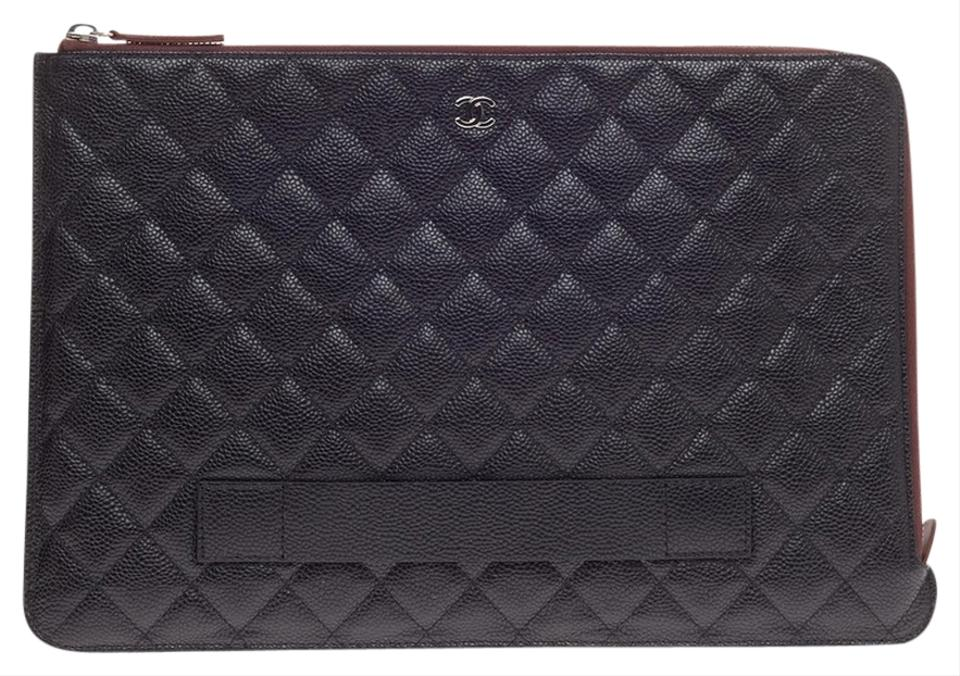 e290bc40b672c7 Chanel Pouch Quilted Large Caviar Clutch - Tradesy