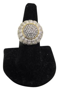 Emma Skye Emma Skye Dome Pave Crystal Stainless Steel Ring Size 9