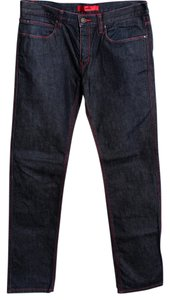 Hugo Boss Black Red Stitching Mens Straight Leg Jeans