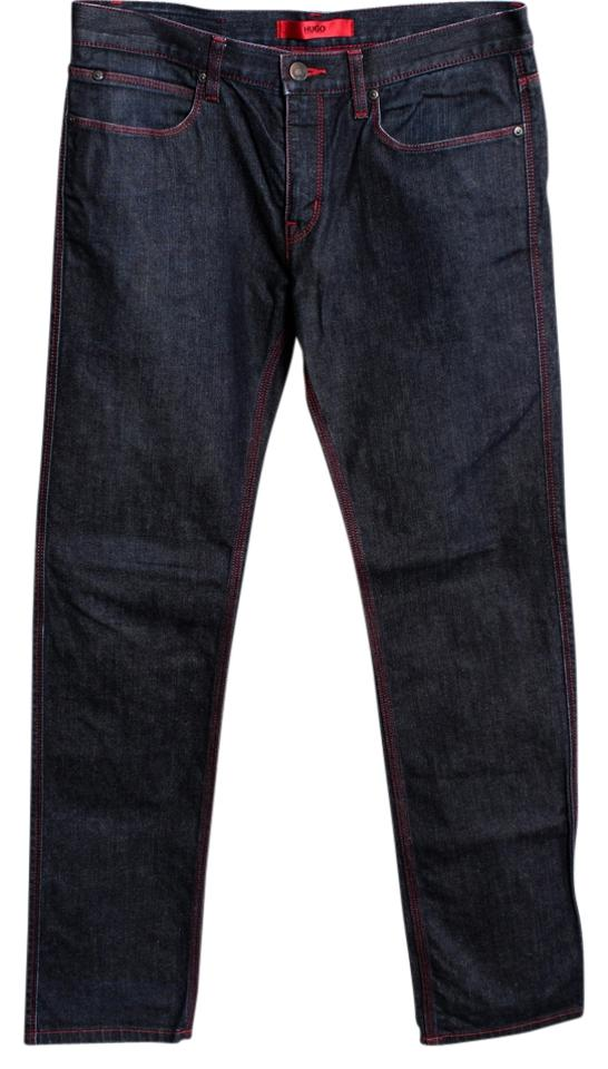 c6352e7a4 Hugo Boss Black Red Stitch Regularfit 32/32 Mens Straight Leg Jeans ...