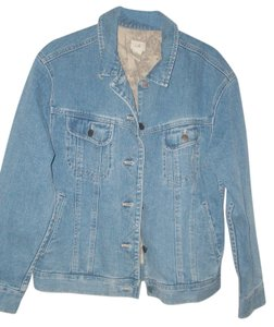 J. Jill Natural Womens Jean Jacket