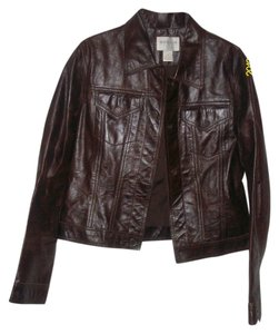 Hugo Buscati Brown Leather Jacket