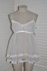 I Do Victoria's Secret White Bridal Babydoll Chemise