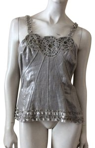 Charles Chang Lima Top Metallic Khaki