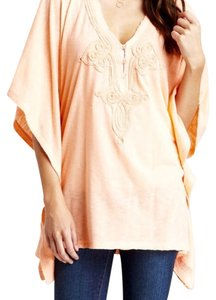 Billabong Coral Embroidered Boho Sweatshirt
