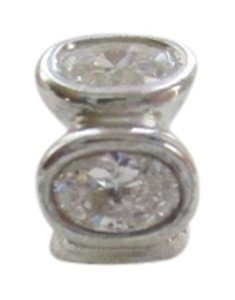 PANDORA New Sterling Authentic Pandora 790311CZ Clear Oval Lights Bead