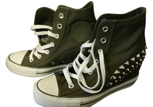Converse Chuck Taylor Wedge Sneakers Grey Athletic
