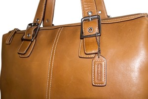Coach Satchel Vintage Leather Camel Shoulder Bag