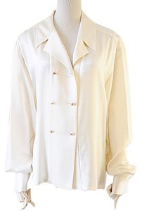Chanel Button Down Shirt cream