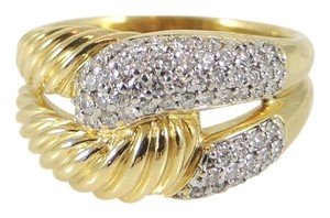 David Yurman David Yurman 18K Yellow Gold .51tcw Pave Diamond Infinity Ring