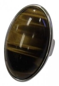 Other Tiger Eye Silver Cocktail Ring