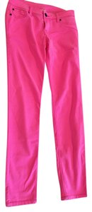 Swell Colored Jeans Neon Skinny Pants Hot Pink