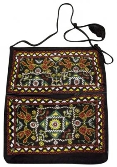 Preload https://item4.tradesy.com/images/hand-made-embroidered-purse-messenger-new-black-cotton-cross-body-bag-144508-0-0.jpg?width=440&height=440
