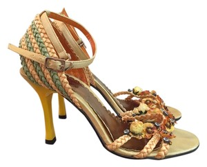 Grace Continental Yellow, Orange, Green Sandals