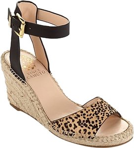 Vince Camuto Sandals Leopard Wedges