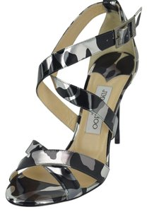 Jimmy Choo Pumps Camouflage Crisscross Strap Black Sandals