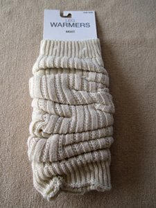 Mixit NWT Women's Acrylic Leg Warmers by Mix It One Size Color Ivory