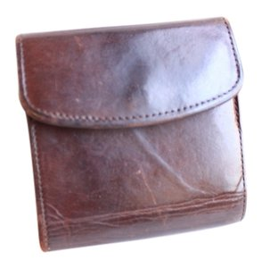 Coach Trifold Brown Vintage Coach Wallet with Coin Purse