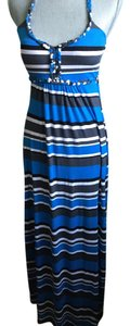 Blue/White/Gray Maxi Dress by Other