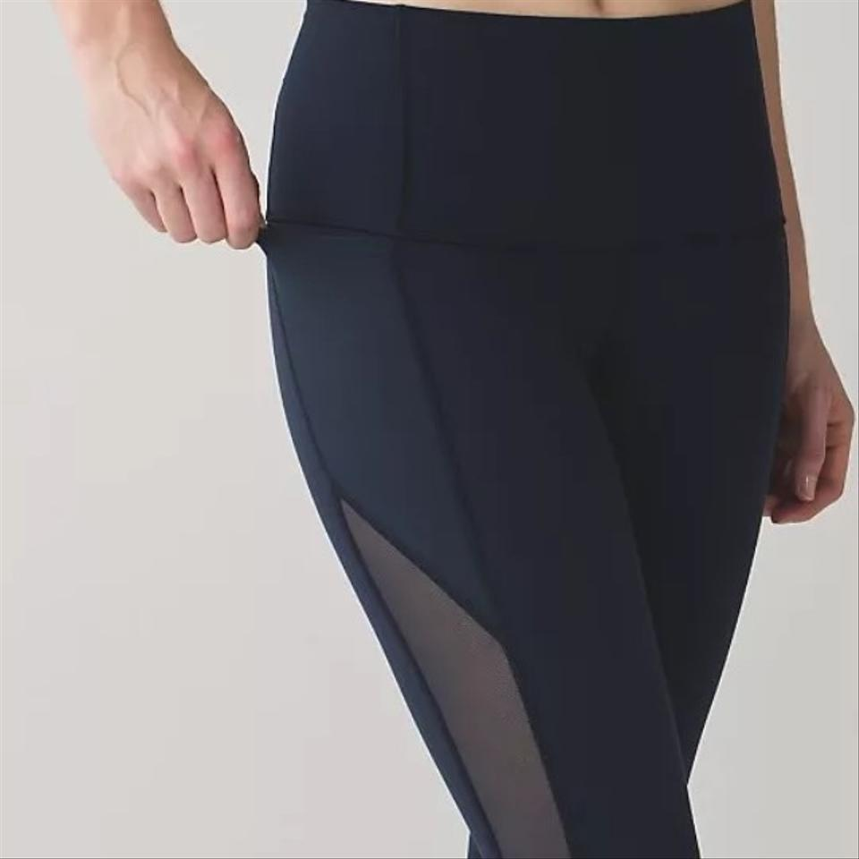 Lululemon Inkwell New With Tags Make A Move Tight Mesh Size 6 Leggings