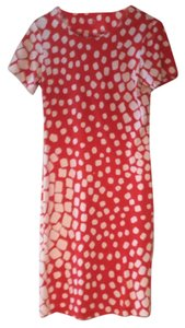 Diane von Furstenberg short dress Orange with white polka dots on Tradesy