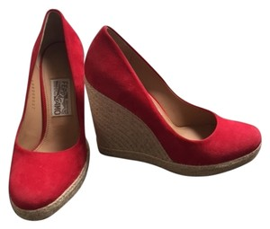 Salvatore Ferragamo Red Wedges