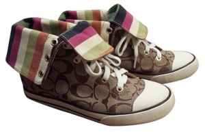 Coach High Tops Sneakers Stripes multi-color Athletic