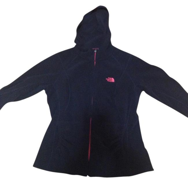Item - Black and Pink Light Weight Running Jacket Activewear Outerwear Size 8 (M, 29, 30)