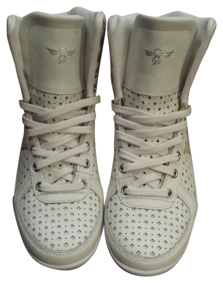 efdbac7cf8e38 Creative Recreation Sneaker High Top Ladies High Tops Perforated Vintage  White Athletic Image 0 ...