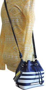 Brahmin Drawstring Leather Cross Body Bag