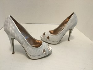 Charles By Charles David White Wedding Stilettos Peep Toe New Wedding Shoes