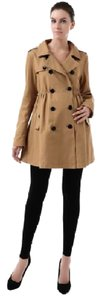 "Momo Maternity NWT- SHIPPING INCLUDED FREE- Momo Maternity ""Kristen"" Empire Waist SPRING Trench Coat RETAIL $149"