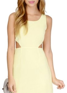 Tobi short dress Pale yellow on Tradesy
